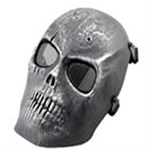 Ecloud Shop® CS Field Skull masker gasmaskers Movie Props Battlefield Heroes Silver Skull masker