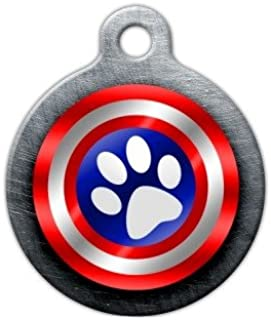 Dog Tag Art Canine America Shield Pet ID Tag for Dogs and Cats