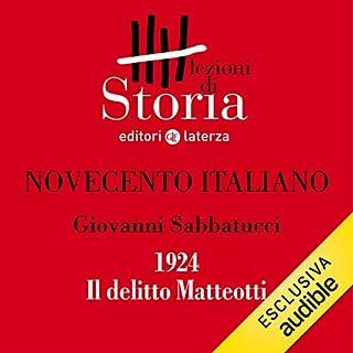 Novecento italiano - 1924. Il delitto Matteotti copertina