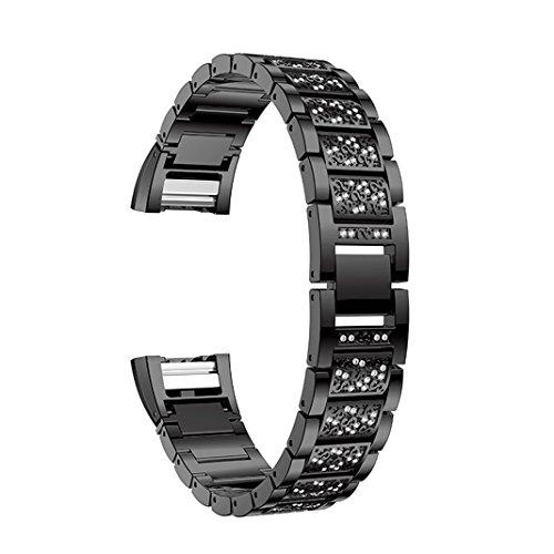 Aottom Cinturino compatibile per Fitbit Charge 2, Metallo Cinturini Donna, Braccialetto Regolabile in Acciaio Fitbit Charge 2 Tracker, Cinturino Orologio Polso Fitness Ricambio Accessori(5.5''-8.4'')