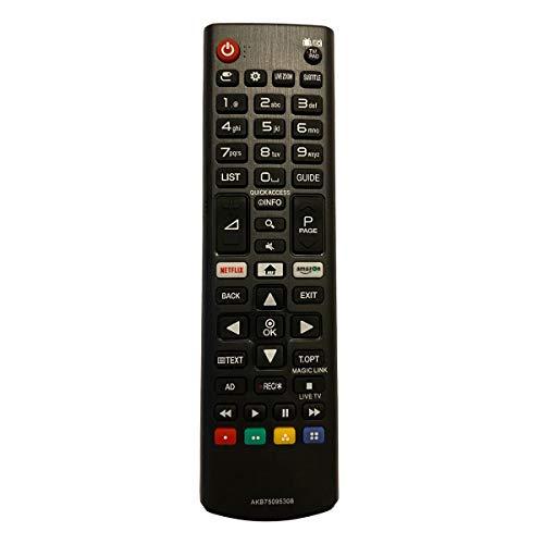 Control Remoto Compatible para LG AKB75095308 Televisión/TV