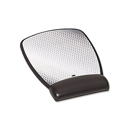 3M Precise Leatherette Mouse Pad w/Wrist Rest, 6-3/4 x 8-3/5, Black (MW309LE)