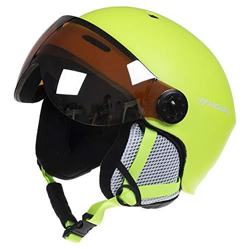 ACC Unisex skihelm met veiligheidsbril, verwijderbare wind- en warme snowboard-helm in de winter, ladderbeschermingsuitrusting