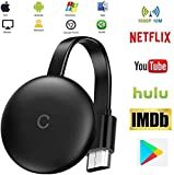Stick De TV para El Nuevo Google Chromecast 3 para Netflix Youtube WiFi Pantalla HDMI Dongle InaláMbrica Miracast para Smartphone PC TV Monitor Proyector