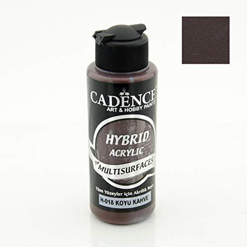 Cadence Acrylfarbe Multisurface | Allzweckfarbe & Universalfarbe für alle Oberflächen geeignet | auf Wasserbasis 120ML (Dunkelbraun)
