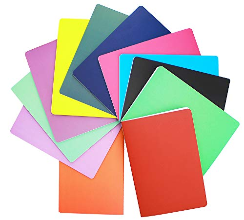 Zegrox A5 Colorful Notebook College Ruled Journals Packs Ruled Notebook Lined Paper,Writing diary Notebooks and journals � 60 Pages, 12 Pack(Ruled)