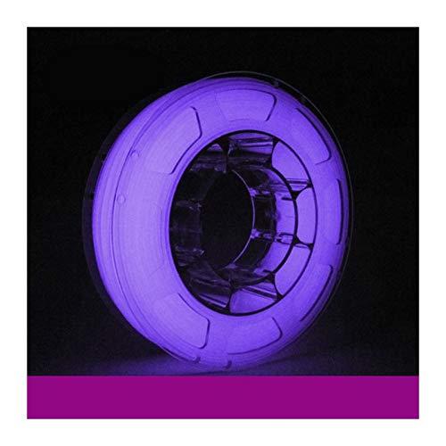 QingH yy PLA Filament 1.75mm White Glow in The Dark 3D Printer Filament 1 kg Spool, Dimensional Accuracy +/- 0.03 mm DYCS0820 (Color : Purple)