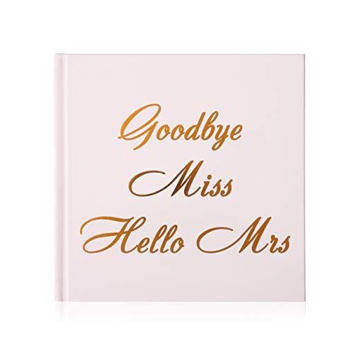 Naler JGA Gästebuch Roségold Hochzeitsbuch Goodbye Miss Hello Mrs Junggesellinnenabschied...
