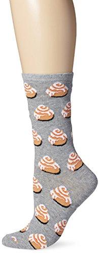 Hot Sox Womens Cinnamon Rolls Crew Socks, Womens Shoe Size 4-10.5