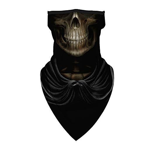 TimNas Unisex Face Bandana Ear Loops Balaclava Neck Gaiters Scarf Halloween Balaclava Skull