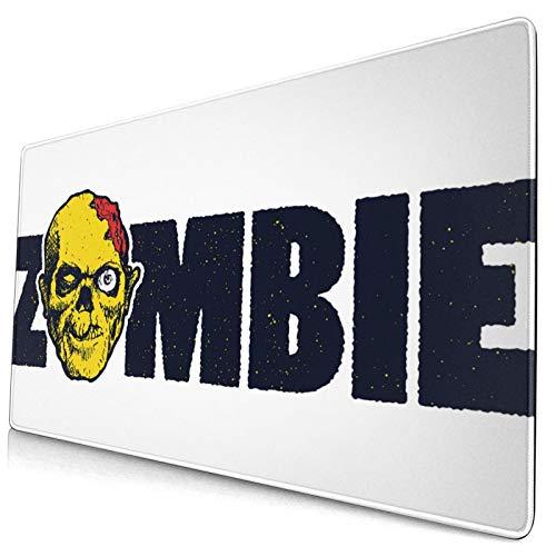 HUAYEXI Alfombrilla Gaming,Impresión de Rostro Humano Zombie Dead,con Base de Goma Antideslizante,750×400×3mm
