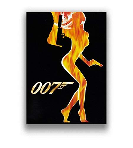 xiangpiaopiao Retro 007 Actor De Cine Lienzo Pintura Carteles E Impresiones Pared Arte Imagen Cartel Sala De Estar Dormitorio Decoración del Hogar 40X50 Cm Lc-719