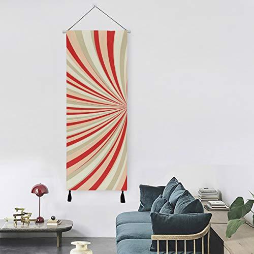 La luz del sol estalló en color azul y rojo Dormitorio Decoración de arte de pared Tapiz de pared 13 pulgadas de ancho X 47 pulgadas de largo Decoración moderna para el hogar Dormitorio Tapiz de par