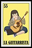 Mexican Lottery Guitar Tab Notebook: La Guitarrista: Mexican