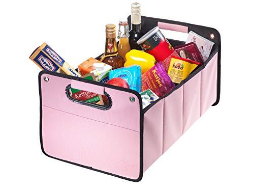 CB Präsentwerbung GmbH CBag rosa - Kofferraumtasche aus Polyester mit stabilem Boden - Klappbox Kofferraumbox Faltbox Organizer Autobox Tasche Auto Kofferraum Zubehör (rosa)