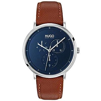 HUGO Reloj Multiesfera para Hombre de Cuarzo con Correa en Cuero 1530032