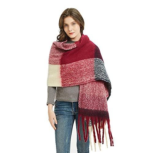 COLiJOL Bufanda Gruesa para Mujer Bufanda con Silenciador Suave de Invierno para Mujer Pañuelo Largo Y Cálido Ideal para Uso Diario Regalos de Mujer (Color: Multicolor, Tamaño: 195X70Cm),Multicolor,e