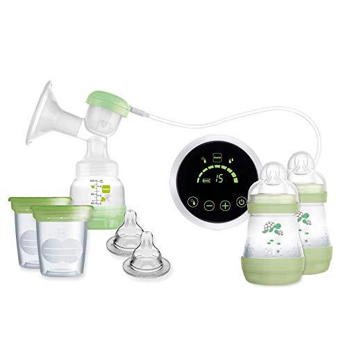MAM E108 Elektrische Milchpumpe für das Stillen, inkl. Milchpumpe, Fläschchen und Konservierungsbehälter, 0 Monate