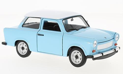Trabant 601, hellblau/weiss, 0, Modellauto, Fertigmodell, Welly 1:24
