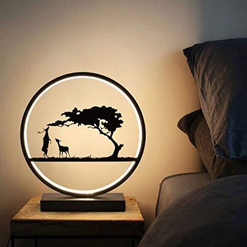 Lfixhssf tafellamp slaapkamer nachtkastje warm en romantisch touch dimmer creatieve persoonlijkheid Deer bruidegom eenvoudig Scandinavisch modern abstracte tafellamp Lfixhss