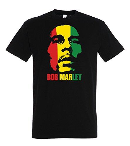 TRVPPY Herren T-Shirt Modell Bob Marley, Schwarz, S