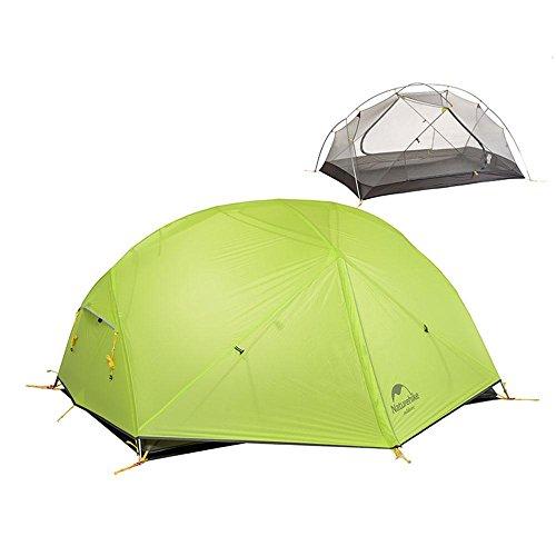Camping Camping Ultra-léger Tiges en aluminium Double couche Tente anti-pluie, 1 - 2 personne , green , 2