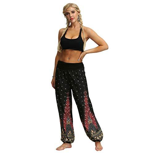hahashop2 Laufhose Damen - Leggins Stretch-Hose Lauf-Tights für Schlüssel Yoga Haremshose - Männer und Frauen verlieren große Hosen...