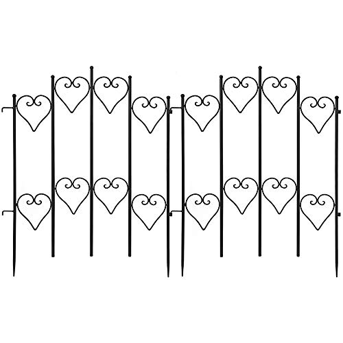 Mejor Amagabeli 27inx45ft Decorative Garden Fence Outdoor Coated Rustproof Metal Garden Fencing Panel Animal Barrier Iron Folding Edge Wire Border Fence Ornamental for Patio Landscape Flower Bed crítica 2020