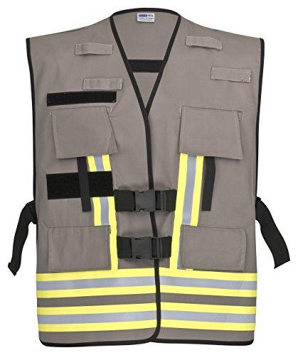 PACOTEX Funktionswesten zur Kennzeichnung von Einsatzpersonal wie z.B. Feuerwehr Warnweste (grau)