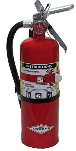 Amerex B402T, 5lb ABC Dry Chemical Class A B C Fire Extinguisher, with Vehicle Bracket