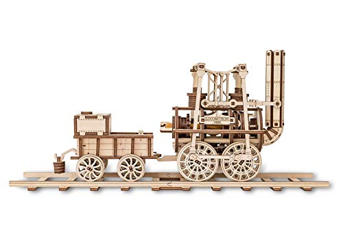 EWA Eco-Wood-Art Locomotion EWA EcoWoodArt 3D Holzpuzzle für Jugendliche und Erwachsene-Mechanische 1 Modell-DIY-Bausatz für Lokomotive, Eisenbahn, Selbstmontage, kein Klebstoff erforderlich
