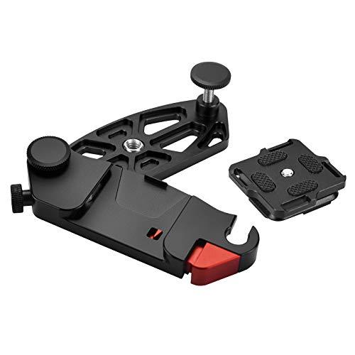 Hinshark Gürtelclip Kamera Halterung Rucksack Gurt, Kamera Halter Capture Clip, Quick Release Plate Clip aus Aluminiumlegierung mit 1/4 Schraube Schnellwechselplatte für DSLR Kamerahalterung Rucksack