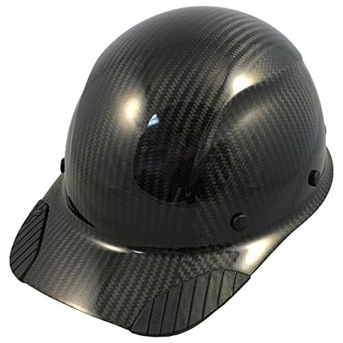 DAX Actual Carbon Fiber Cap Style Hard Hat – Glossy Black