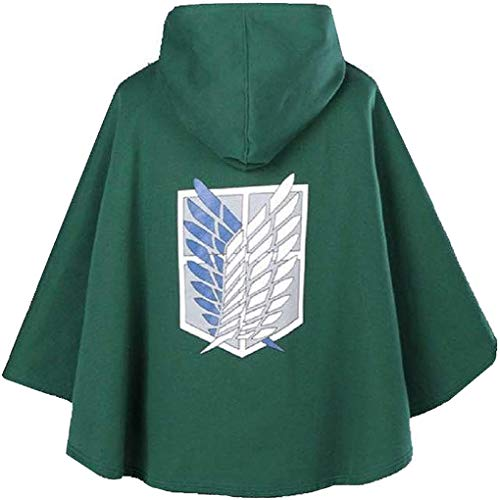 GZHPS Anime Cosplay Costume Attack on Titan Jacket Women L Attaque des Titans Cape 099
