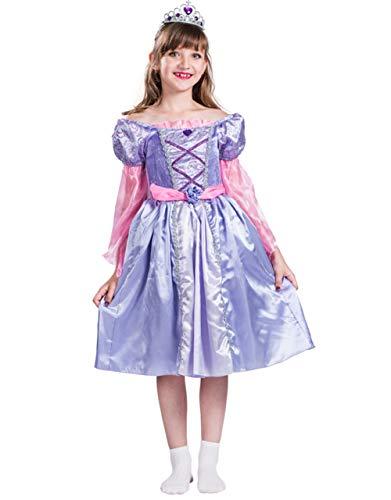 WWSSJD para Niños Vestido Victoria Princess Puesta en Escena Palacio Fiesta Carnaval Navidad Víspera de Todos los Santos (Púrpura),L