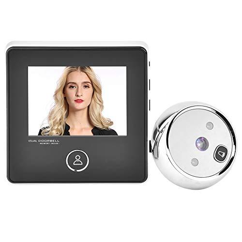 IR nachtzichtcamera Slimme kijkgaatje deurbel, kijkgaatje, 3 inch TFT-LCD-scherm HD Slimme visuele deurbel met 1 MP IR nachtzichtcamera, eenvoudige installatie