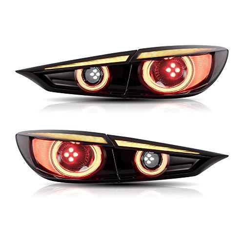 USEKA マツダ アクセラ テールランプ テールライト リアライト BM系 新型日本初販売 オープニングモーション機能搭載 全LED仕様 流れるウインカー 新品 セダン専用 左右四点セット 2013〜2019 For Mazda Axela 3 taillight