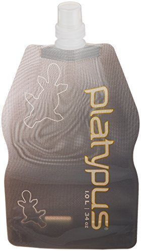 Platypus Ultralight Collapsible SoftBottle with Push-Pull Cap, Gray, 0.5-Liter