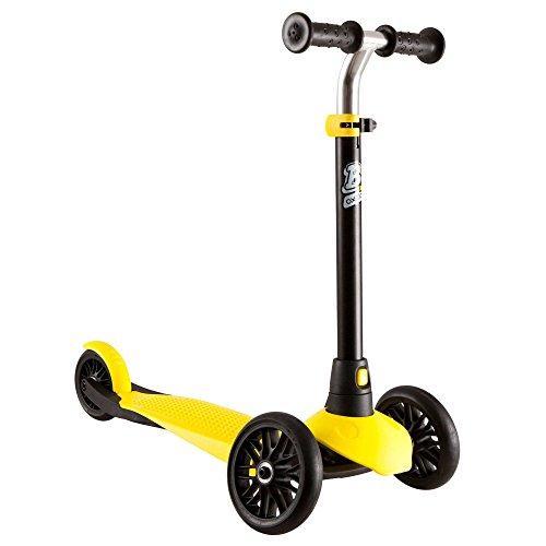 Oxelo Kinderroller B1 schwarz gelb Roller Kickscooter Scooter Höhenverstellbar Kinder Mädchen Jungen Mini Kleinkinder Geschenk Geburtstag Tretroller