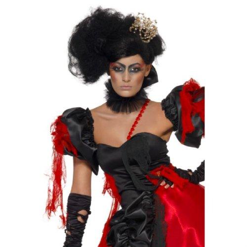 Generique - 350500 - Perruque Reine De Cœur Noire Femme