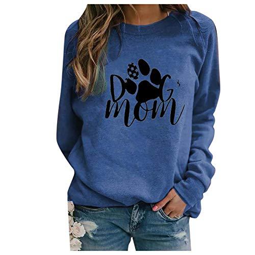 Zilosconcy Sudaderas Mujer Baratas sin Capucha 2021 Camiseta de Manga Larga con Cuello Redondo para Mujer Primavera Otoño Paisaje Sudadera cálida Camiseta básica Pullover Blusas Tops