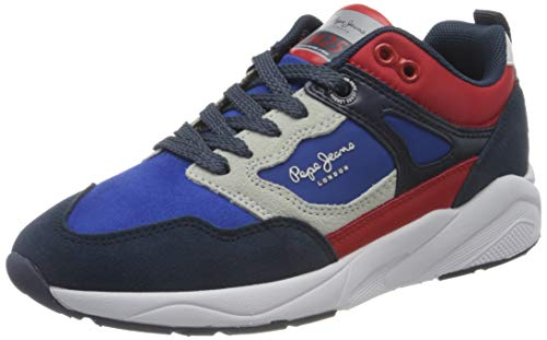 Pepe Jeans London Orbital Combi Junior, Zapatillas, 554 Azul Eléctrico, 35 EU