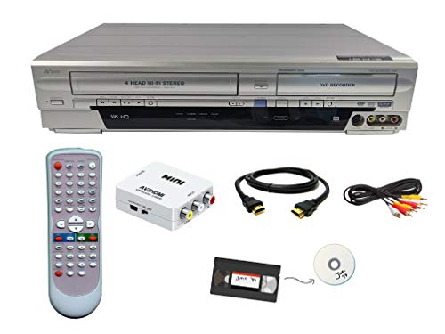 Find Cheap Funai VHS to DVD Recorder VCR Combo w/ Remote, HDMI Upconverter Box Bundle