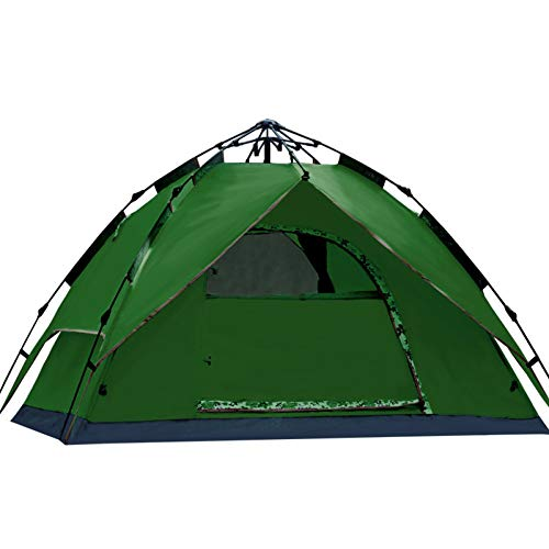 LiAn Fully Automatic Tent, Outdoor Camping 3-4 People Waterproof And Wearable Tents Available In Four Seasons,Armygreen