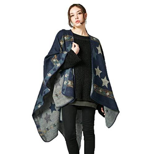MHO sjaal jas vrouwen winter omkeerbare oversized deken Poncho Cape sjaal vesten