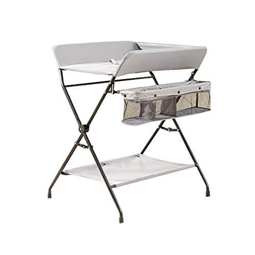 N/Z Equipo para el hogar Mesa para el Cuidado del bebé Mesa para pañales portátil con Rejilla de Almacenamiento para bebés Mesa para pañales para bebés Masaje para bebés Baño Plegable