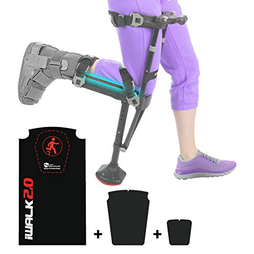 iWALK2.0 Hands Free Crutch Alternative to Crutches and Knee Scooters - Factory Replacement Knee Pad Kit
