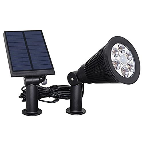 CLLX Lampe Solaire Extérieur LED Spot Solaire éclairage Paysage Installation 2 en 1 Applique et Lampadaire étanche 180° Réglable