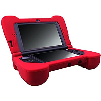 MXRC Silicone Rubber Cover Skin Case Anti-Slip Hand Grip Customize for Nintendo [NEW 3DS XL] x 1 Red Not for Old 3DS XL