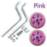 Ruedines Estabilizadores de Bicicletas Kit for niños de los niños de 12-20' Universal 1pair Bike Balance Rueda Auxiliar Conjunto de Entrenamiento Ciclismo Accesorios Ruedas (Color : Pink)